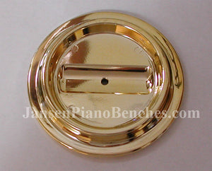 brass lucite piano caster cup