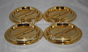 brass piano caster cups lucite