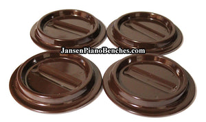 brown lucite piano caster cups plastic for mahogany walnut pianos