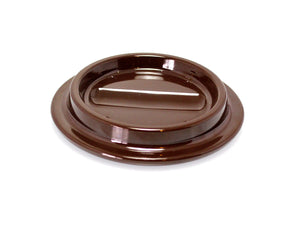 lucite piano caster cup brown