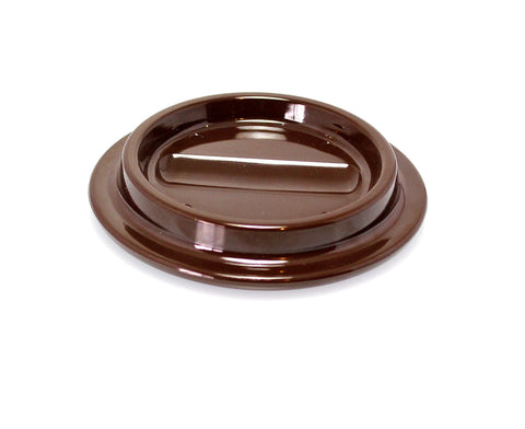 Brown Lucite Piano Caster Cups 4-1/2