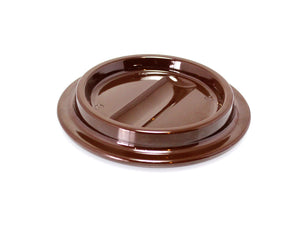 Brown Lucite Piano Caster Cups 4-1/2""