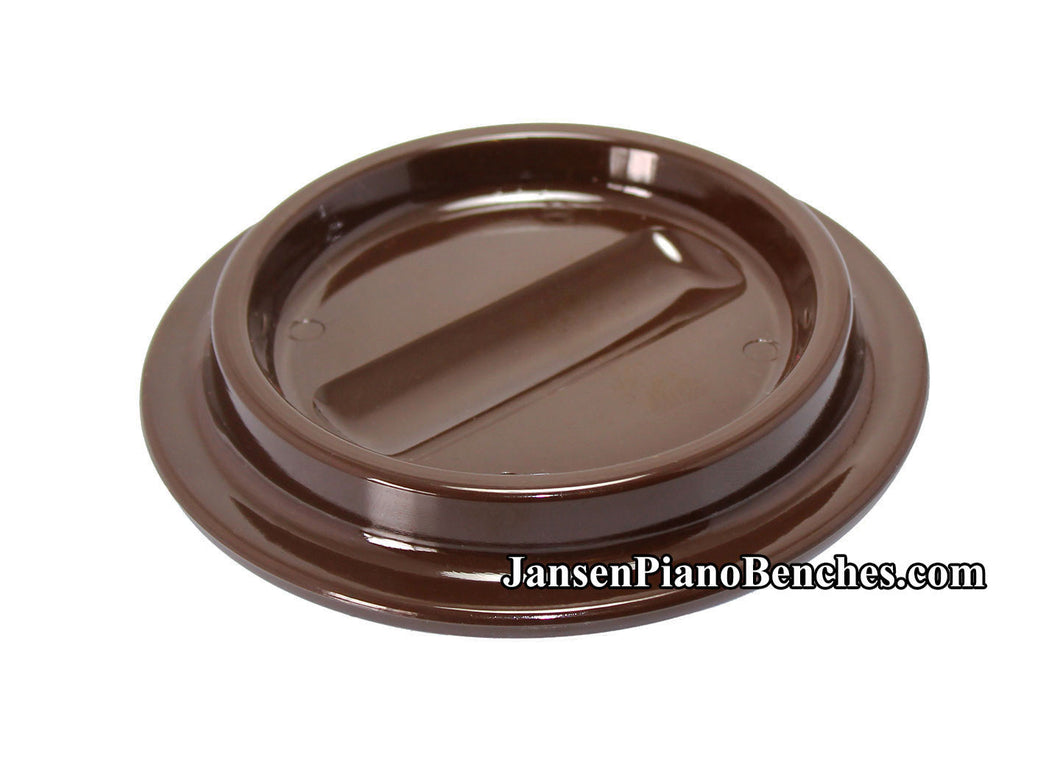 brown lucite piano caster cup