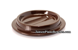 piano caster cup brown lucite