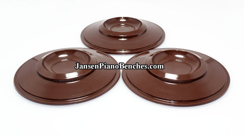 piano caster cup brown plastic