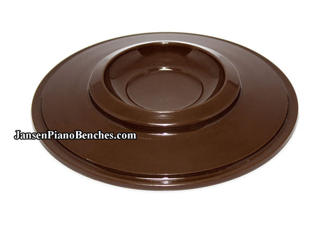 brown piano caster cups plastic