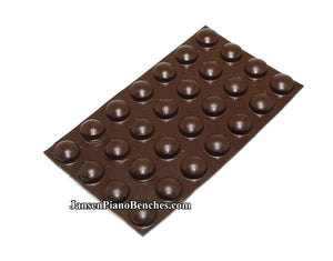 brown piano buttons adhesive model 357-br
