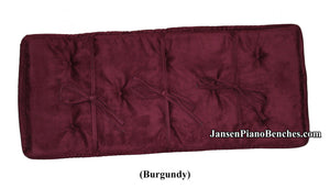 jansen piano bench cushion burgundy