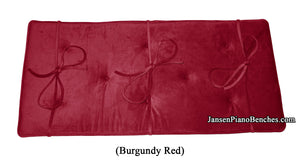 burgundy tufted piano bench pad