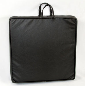 piano booster cushion with handles black