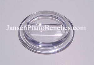 clear lucite piano caster cup by Jansen