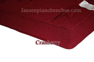 piano bench cushion cranberry