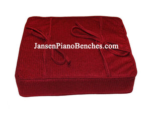 cranberrry piano bench booster cushion