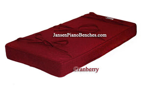 cranberry piano bench cushion