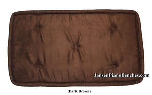 brown piano bench cushion Jansen