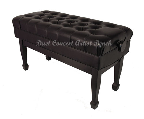 black duet adjustable artist piano bench