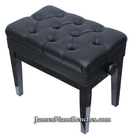 black adjustable piano bench