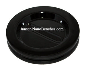 "Jansen 5.5"" grand piano caster cup high polish ebony"