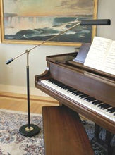 Load image into Gallery viewer, piano floor lamp house of troy lamp and brass