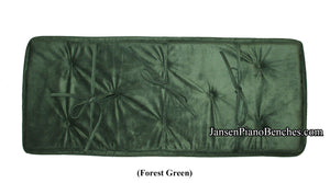 Jansen piano bench cushion forest green