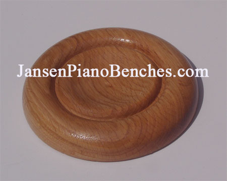 golden oak piano caster cup