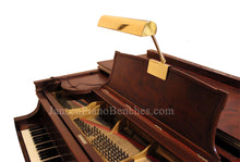 Load image into Gallery viewer, brass piano lamp with steinway piano