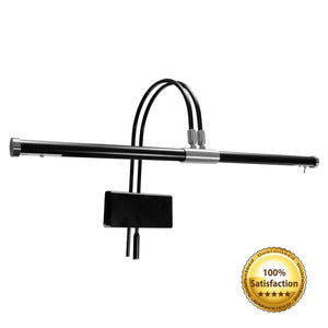 gpled22 black piano lamp with nickel accents GPLED22SND
