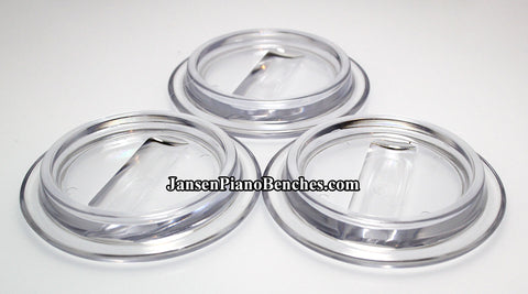 clear lucite grand piano caster cups