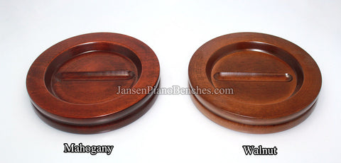 large hardwood piano caster cup by jansen