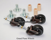 Load image into Gallery viewer, grand piano wheels rubber caster schaff 1591