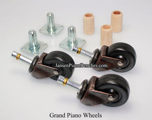 grand piano wheels rubber caster schaff 1591