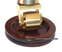 Load image into Gallery viewer, grand piano caster cups satin mahogany finish