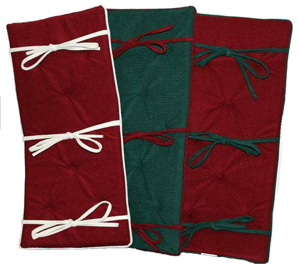 grk holiday piano bench cushion red green