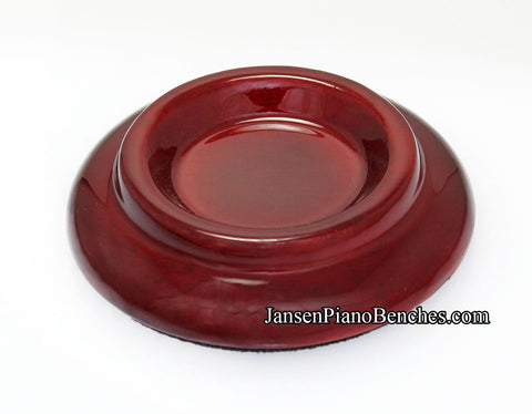 high polish mahogany piano caster cup pad