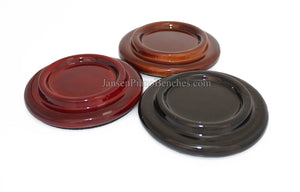 "5"" High Polish Wood Piano Caster Cups"