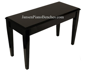 jansen grand piano bench in high polish black finish