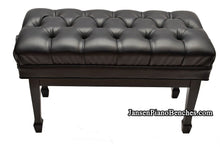 Load image into Gallery viewer, jansen duet artist piano bench satin black