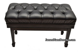 jansen duet artist piano bench satin black