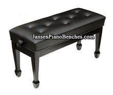 Load image into Gallery viewer, Jansen duet petite artist piano bench ebony