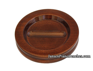 high polish walnut grand piano caster cup pad