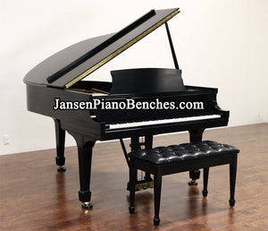Jansen Grand Piano Upholstered Bench