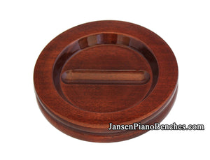 grand piano caster cup mahogany high gloss