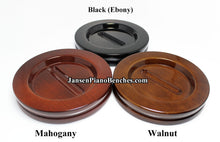 Load image into Gallery viewer, jansen high gloss piano caster cups mahogany walnut and black finish