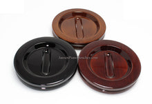 Load image into Gallery viewer, piano caster cups Jansen high polish walnut mahogany and black