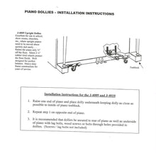 Load image into Gallery viewer, upright piano dolly installation instructions