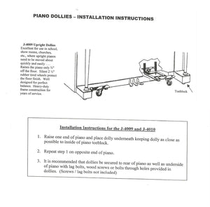 upright piano dolly installation instructions
