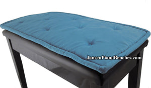 jansen piano bench cushion light blue