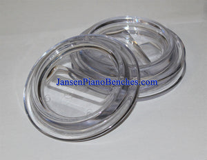 Jansen clear lucite piano caster cups