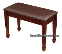 Load image into Gallery viewer, Jansen Upholstered Top Grand Piano Bench - Mahogany - Open Box