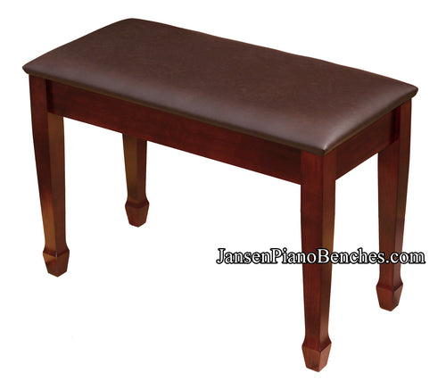 jansen mahogany upholstered piano bench